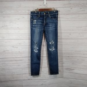 🎉 American Eagle distressed skinny jeans jeggings